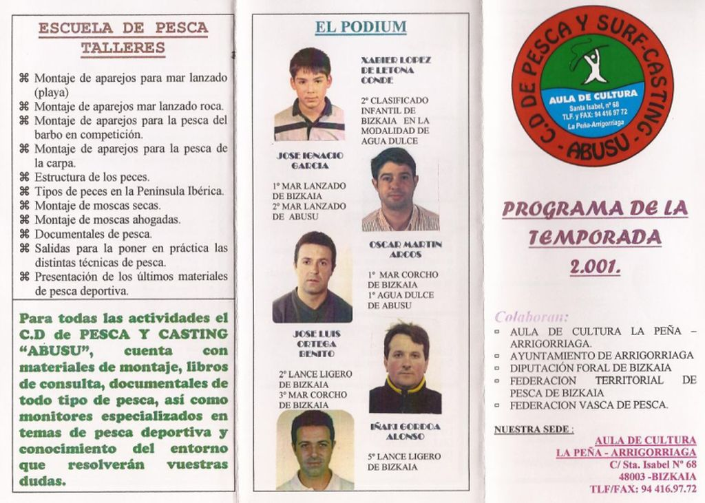 Programa Podium 2001 1000